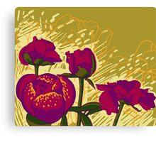 peony flowers Canvas Print