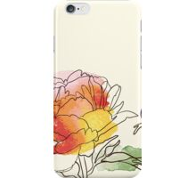 peony flowers iPhone Case/Skin