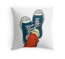 colored pattern gym shoes Throw Pillow