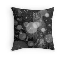 Spirit Bear in Snowstorm Throw Pillow
