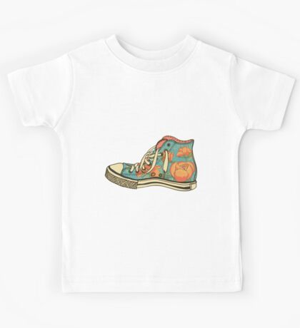 colored pattern gym shoes Kids Tee