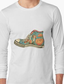 colored pattern gym shoes Long Sleeve T-Shirt
