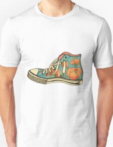 colored pattern gym shoes T-Shirt