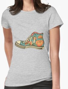 colored pattern gym shoes Womens Fitted T-Shirt