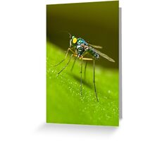 Green Predator Greeting Card