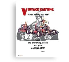 Vintage Karting, When Karting was real  Canvas Print