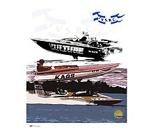 Victorian Speed Boat Club Art Photographic Print