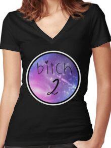 Bitch 2 - Best Friends Women's Fitted V-Neck T-Shirt