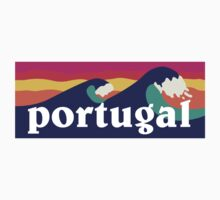 Portugal Surfing Waves Kids Clothes