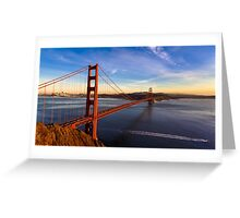 SF Golden Gate Bridge at Sunset Greeting Card