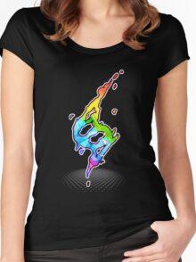 Mega evolution symbol - Charizard X Women's Fitted Scoop T-Shirt