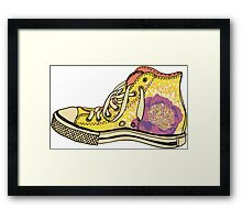 colored pattern gym shoes Framed Print