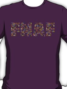 Five Nights at Freddy's - Pixel art - FNAF typography T-Shirt