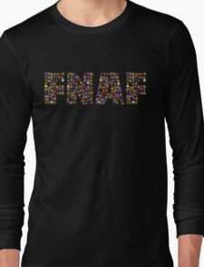 Five Nights at Freddys - Pixel art - FNAF typography Long Sleeve T-Shirt