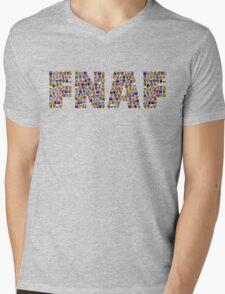 Five Nights at Freddys - Pixel art - FNAF typography Mens V-Neck T-Shirt