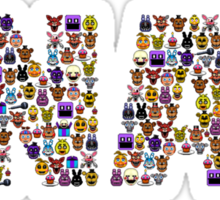 Five Nights at Freddy's - Pixel art - FNAF typography Sticker