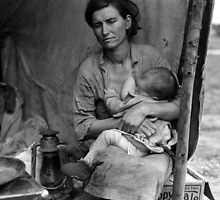 Dorothea Lange, Migrant mother (alternative), Nipomo, California, 1936 2 by Adam Asar