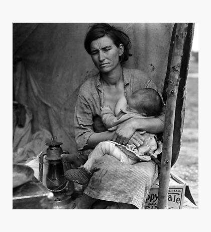 Dorothea Lange, Migrant mother (alternative), Nipomo, California, 1936 2 Photographic Print