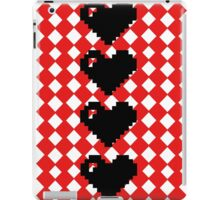 8 bit hearts  iPad Case/Skin