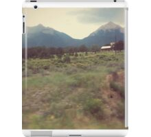 colorado rocky mountain home on the go iPad Case/Skin