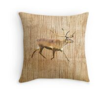Christmas Card/Pillow - Scandinavian Reindeer Throw Pillow