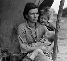 Dorothea Lange, Migrant mother (alternative), Nipomo, California, 1936 by Adam Asar