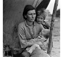 Dorothea Lange, Migrant mother (alternative), Nipomo, California, 1936 Photographic Print