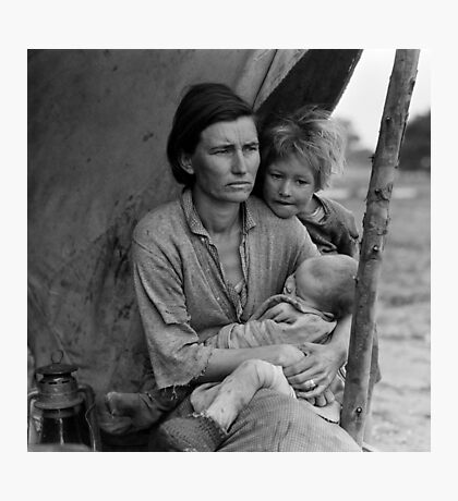 Dorothea Lange, Migrant mother (alternative), Nipomo, California, 1936 Photographic Print