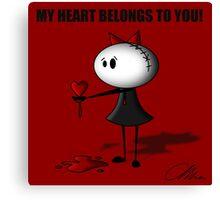 Darkette! my heart belongs to you. Canvas Print