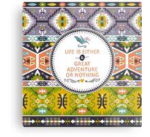 Seamless aztec pattern with geometric elements Metal Print
