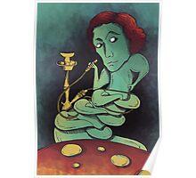 Lewis, smooking hookah, eating mushrooms Poster