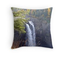 """Snoqualmie Falls"" Throw Pillow"