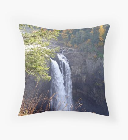 """Snoqualmie Falls"" Throw Pillow"