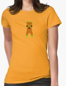 Orange Creature Front Womens Fitted T-Shirt