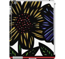 Soliloquy Flowers Yellow Red Blue iPad Case/Skin