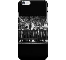 Family resting in Hyde Park iPhone Case/Skin