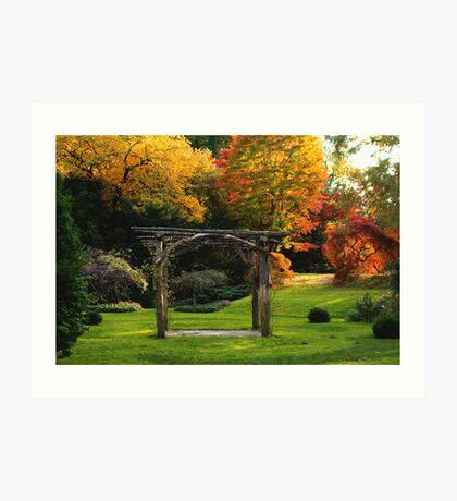 Arboretum Pergola Art Print