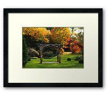 Arboretum Pergola Framed Print