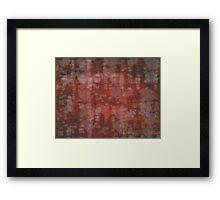copper pattern Framed Print