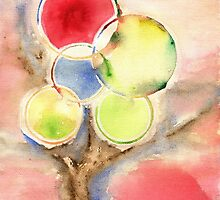 Abstract Tree Watercolors by bicone