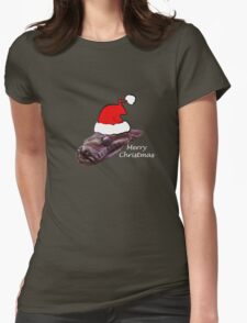 Merry Christmas Snake   TEE Womens Fitted T-Shirt