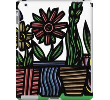 Palimpsest Flowers Blue Green Red iPad Case/Skin