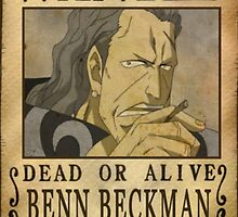 Wanted Benn Beckman - One Piece by yass-92