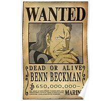 Wanted Benn Beckman - One Piece Poster