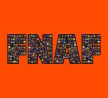 Five Nights at Freddy's - Pixel art - FNAF typography (Black BG) Kids Clothes