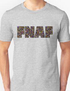 Five Nights at Freddys - Pixel art - FNAF typography (Black BG) Unisex T-Shirt