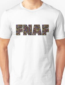 Five Nights at Freddys - Pixel art - FNAF typography (Black BG) T-Shirt