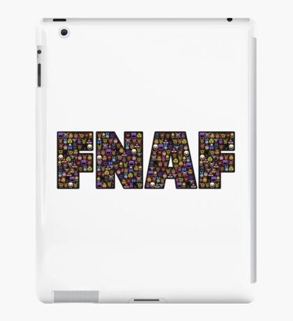 Five Nights at Freddys - Pixel art - FNAF typography (Black BG) iPad Case/Skin