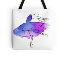 ballerina figure, watercolor Tote Bag