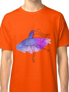ballerina figure, watercolor Classic T-Shirt